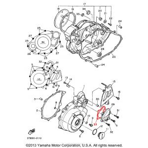 Uszczelka pokrywy zębatki rozrusznika Yamaha XT TT 600 / XTZ 660