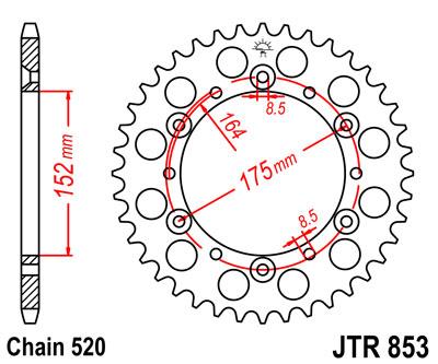 JT Sprockets JTR853-47