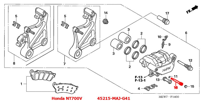 Honda 45215-MAJ-G41